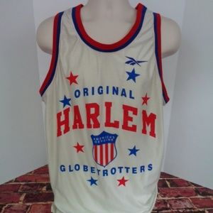Harlem Globetrotters White Jersey Mens XL